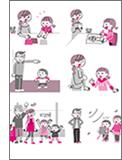 「はじめての親子英会話」本文イラスト