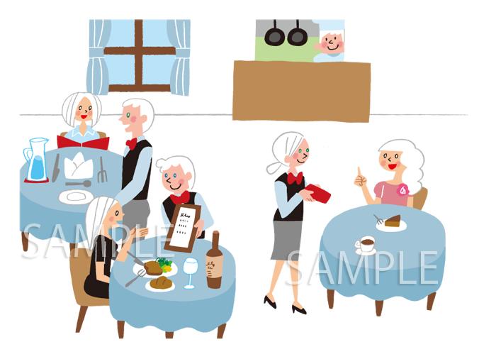 レストランのイラスト
