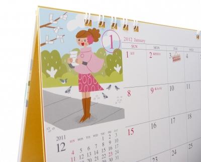 女性 カレンダー イラスト