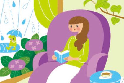 梅雨の女性のイラスト:月刊「SMILE」表紙