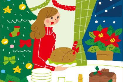 クリスマスの女性のイラスト:月刊「SMILE」表紙